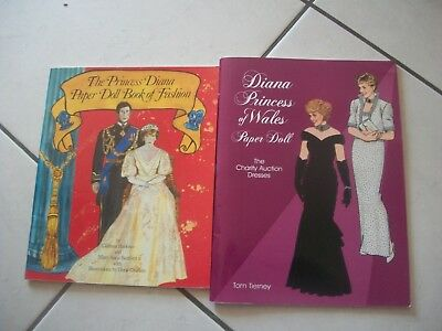Lot of (2) different PRINCESS DIANA Paper Doll Books