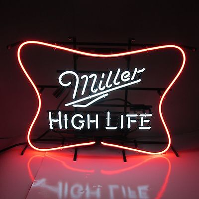 Miller High Life Beer Soft Cross Neon Lit Sign New