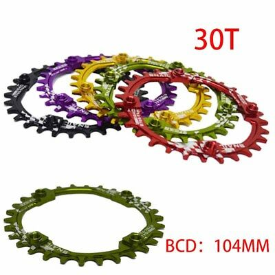 SNAIL Bike 30T Chainring Round  BCD 104mm Narrow Wide Circle Crankset Plate New