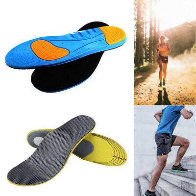 Diabetic Medical GEL Arch Support Thick Insoles Running Boots Shock-Absorption