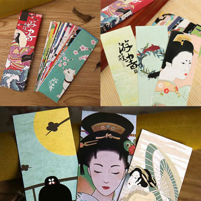 30pcs Vintage Japanese Style Book Marks Paper Bookmark Student Reader Supplies