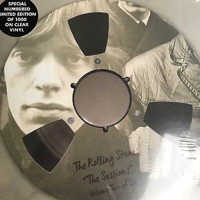 """The Rolling Stones The Sessions Vol 2 10"""" Lp Ltd Edt Clear Numbered Vinyl"""