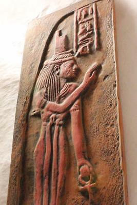 ISIS Egyptian Star Goddess Edfu Temple large wall relief ancient replica
