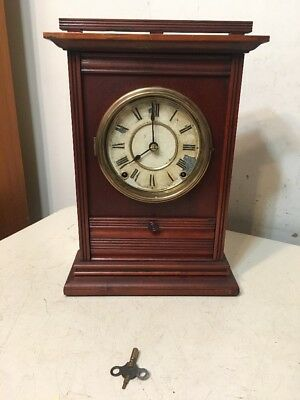 Rare Antique Seth Thomas Parlor Clock City Series? Drop Front Drawer Unusual