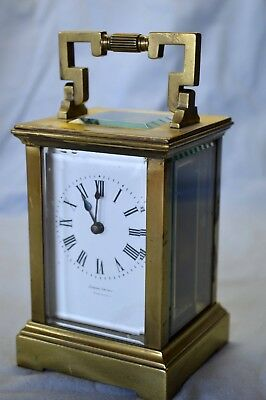 Joseph Gache 19th Century Carriage Clock French Gibraltar Antique Brass Lovely