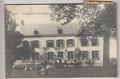 Cpa Belgique Europe -  Pipaix Chateau De Ghyssegnies  Enfant Anime 1909 ~B43