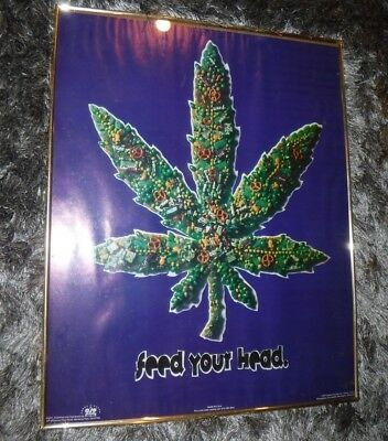 Marijuana Poster- VINTAGE 1994- CANDY BRACH'S- MILKY WAY FROTIES & MORE- FRAMED