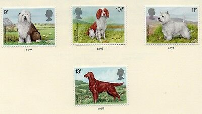 GREAT BRITAIN STAMPS - MINT SET of 4  - DOGS - 1979