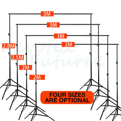 Adjustable Photography Background Support Stand Photo Backdrop Crossbar Kit Case