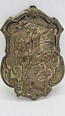 Antique 1800's Large Belt Buckle Crusaders Knight Crusades Holy war Christian NR