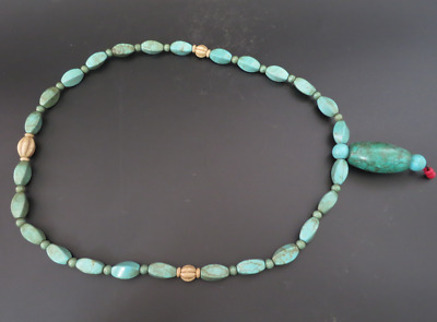 Old Chinese  jade, collectibles, Tibetan, turquoise, necklaces Y4165