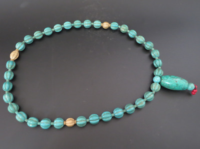 Old Chinese  jade, collectibles, Tibetan, turquoise, necklaces Y4166
