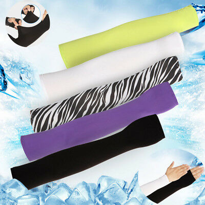 Men Women UV Protection Sleeves Arm Cooling Riding Sleeves Ice Silk Cover Gloves