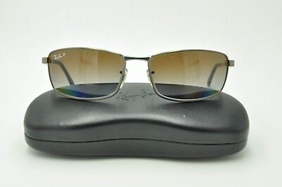 2f9cfd31744 Ray Ban RB 3498 Sunglasses 029 T5 Matte Gunmetal   Brown Gradient Polarized  61mm