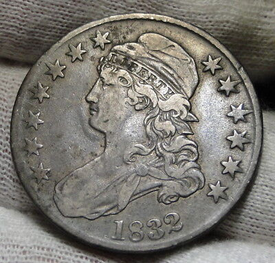 1832 Capped Bust Half Dollar 50 Cents - Nice Coin.. Free Shipping  (6746)