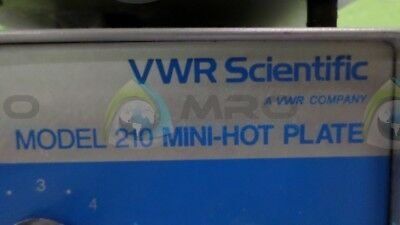 Vwr 210 Mini Hot Plate * Used *