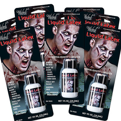 Latex Liquido Zombie pelle Halloween Make Up Accessorio Vestito