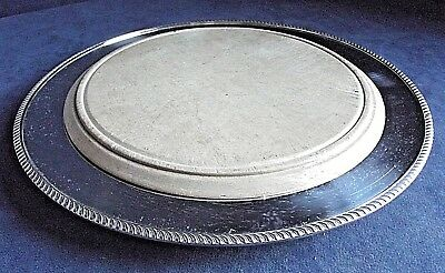 "SUPERB 11"" ~ SILVER Plated & Hardwood ~ Bread PLATTER Tray ~ c1910"
