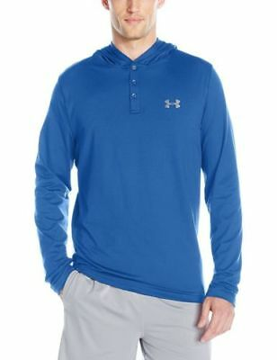 New With Tags Mens Under Armour UA Lounge Hoodie Button Polo Rugby Henley Top