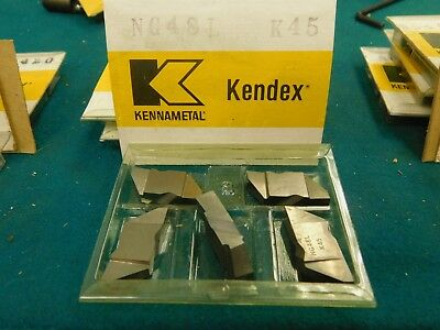 "5 Kennametal Top Notch NG 48L K45 1//4/"" Wide Carbide Grooving Inserts"