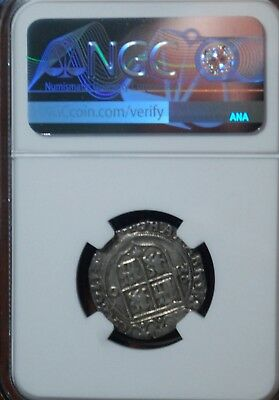 1542-55/MOO Mexico Carlos & Joanna Silver Real NGC VF Details Mount Removed