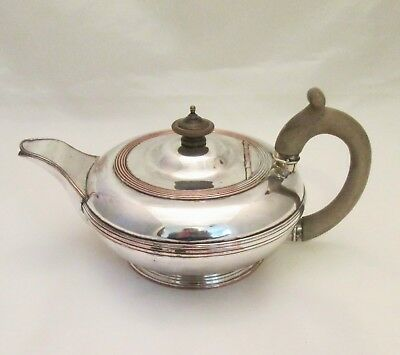 A Small Old Sheffield Plate Tea Pot c1820 - Round Shape - Tea for Two