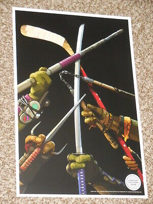 TEENAGE MUTANT NINJA TURTLES OUT OF THE SHADOWS LIMITED ED 11x17 INCH POSTER