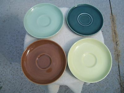 Vintage Mid Century Russel Wright Saucer Lot Of 4 - Mixed Colors