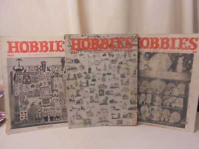 Hobbies The Magazine For Collectors 1947 ~ 3 Issues - March / May / June