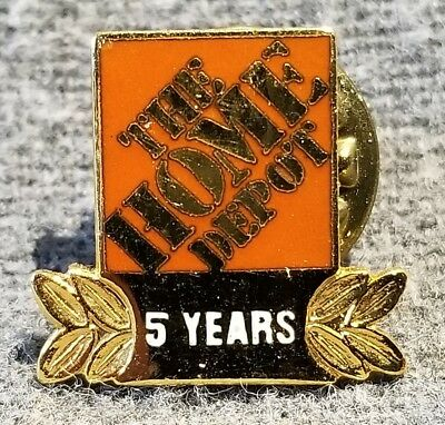 LMH PINBACK Tie Lapel Pin HOME DEPOT Employee Apron 5 YEARS SERVICE Award b