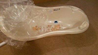 TEDDY LUX Baby Bath Baby Tub with thermomether 102cm beige pearl Bears