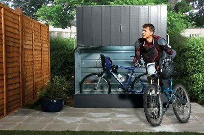 Trimetals Bike Shed (Metal) - Store up to 3 adult Bicycles or 1 Motorbike