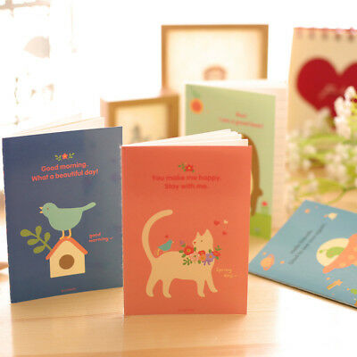 Cartoon 5PCS Notepad Mini Notebook Writing Diary Paper Stationery 8.5*12CM
