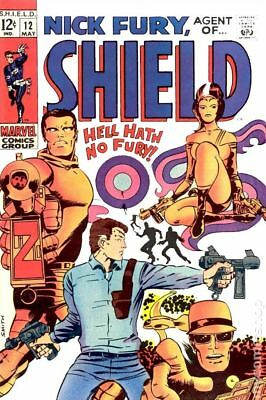 Nick Fury Agent of SHIELD (1st Series) #12 1969 VG 4.0 Stock Image Low Grade