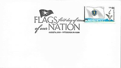 2009 Flags of Our Nation MASSACHUSETTS FDC Unaddressed Uncacheted Free Shipping