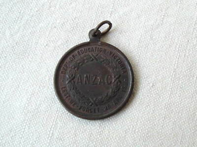 1916 Wwi Ww1 Victoria Australia Gallipoli Anzac For King And Country Medal Badge