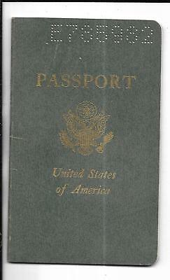 1974 American Passport USA With UAR Egypt & Middle East Stamps