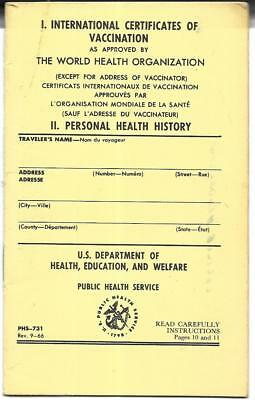 International Certificate Of Vaccination Or Revaccination Against Smallpox, 1974
