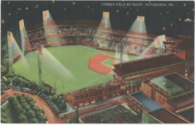 1930s Forbes Field Baseball Stadium Pittsburgh PA at Night Pittsburgh Pirates