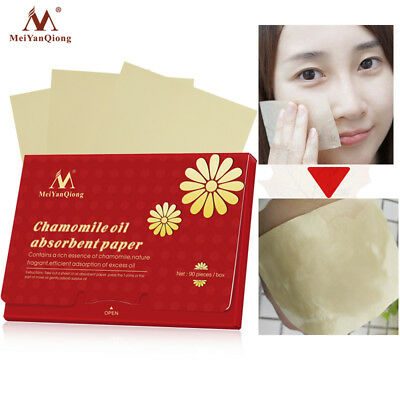 90Pcs/Pack Face Oil Blotting Paper Chamomile Absorbent Sheet Oil Control Paper