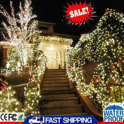 500 LED 100M Cool White String Strip  Fairy Curtain Lights Wedding Party Outdoor
