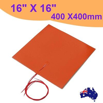 AU 400x400mm 1400w 240V 3D Printer Heated Bed Silicone Heater Pad Heating Mat