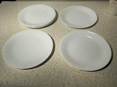 "8 Corelle Winter Frost White 10 1/4"" Dinner Plates All Appear Unused"