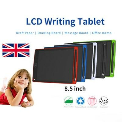 LCD Writing Pad Kids Painting Drawing Tablet Message Doodle eWriter Board 8.5""