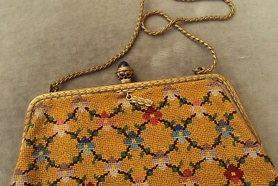 Lovely Vintage Tapestry Evening Purse Or Bag, C1940S-50S