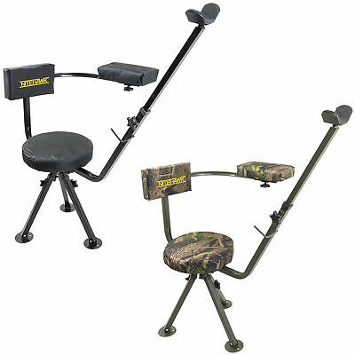 Nitehawk 360 Swivel Deluxe Shooting Hunting Chair Padded Gun/Rifle Rest