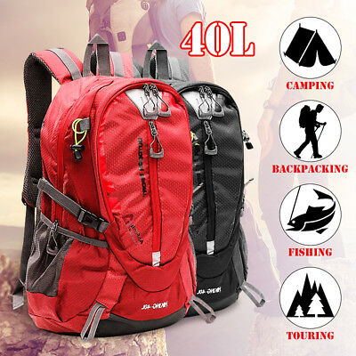40L Waterproof Camping Hiking Backpack Outdoor Travel Sport Luggage Rucksack Bag