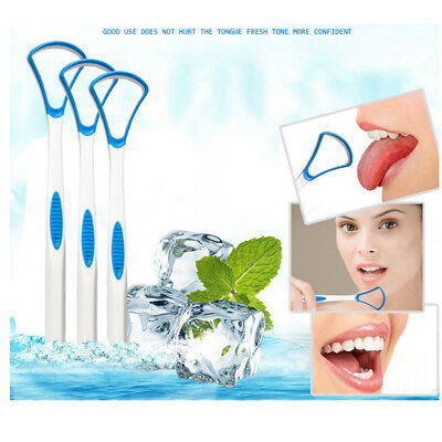 1x Plastic Tongue Tounge Cleaner Scraper Dental Care Oral Hygiene Mouth