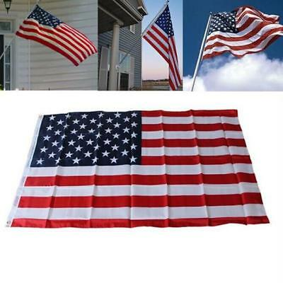 Large Indoor Outdoor US American Flag Sewn Stripes Stars 150*90CM C
