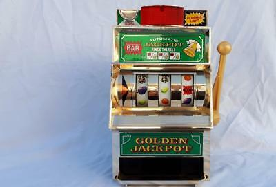 Collectable Vintage Golden Jackpot  BAR / Mans Cave Display  TOY